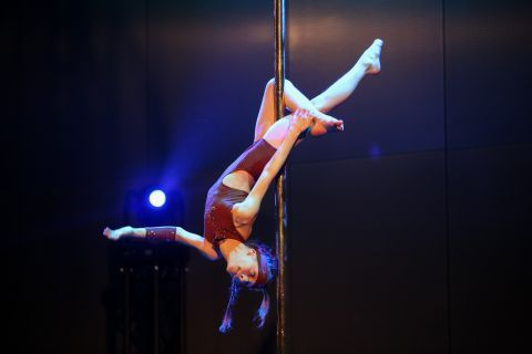 POLE DANCE SHOW AS A PART OF THE FIT OF THE WEEKEND FESTIVAL HELD IN TARGI KIELCE