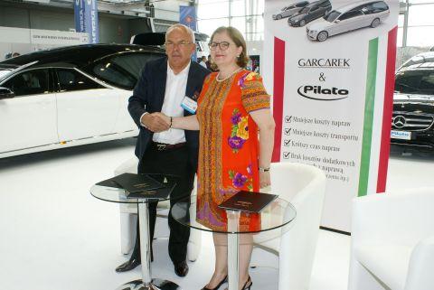 Na zdjęciu Barbara Pilato i Jan Garcarek.