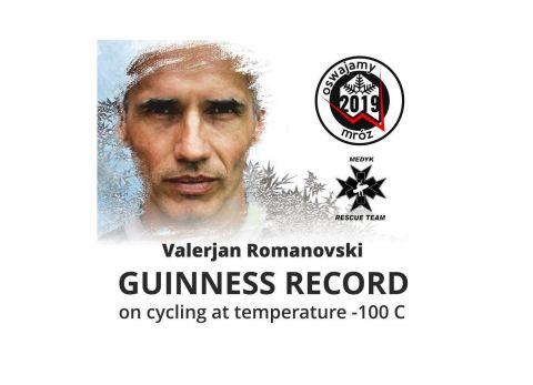 Jazda rowerowa w  temperaturze -100 stopni Celsjusza (Guinness Records)
