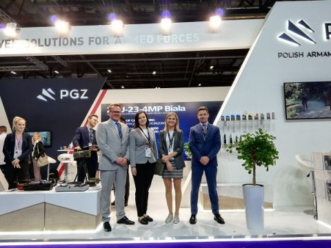 The Targi Kielce representatives at the PGZ expo stand promoted MSPO 2020