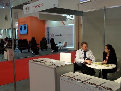 TRANSEXPO team promotes the Kielce expo in Brussels