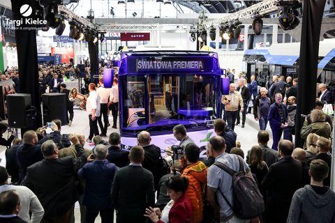 premiera autobusu miejskiego solaris podczas targów transexpo w kielcach