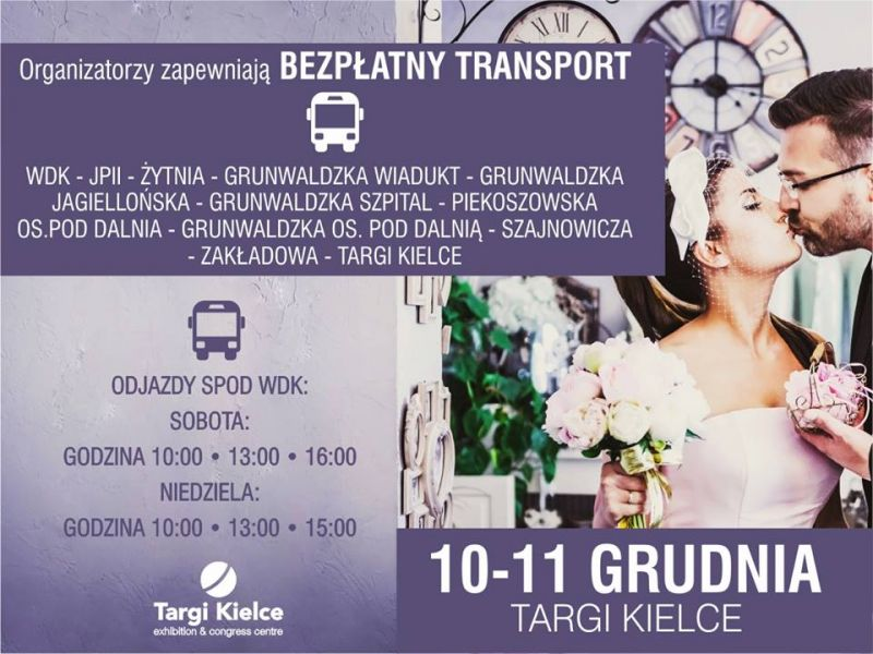 modny ślub - bezpłatny transport
