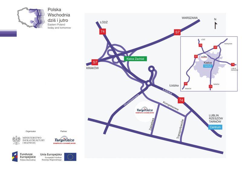 polska wschodnia - mapa dojazdu