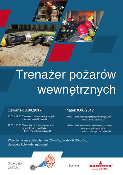 ifre 2017 - pokazy trenażera pożarów wewnętrznych - plakat